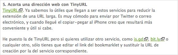 Bookmarklet iPhone Abre Links