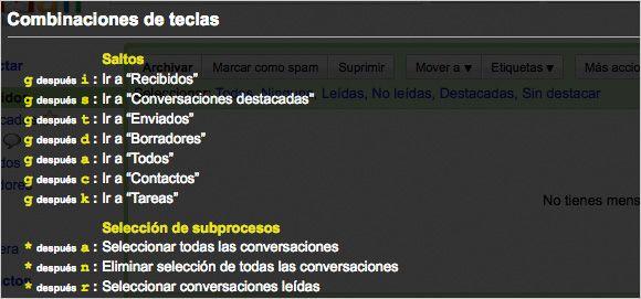 Gmail Atajos