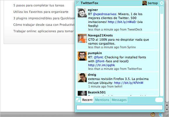 Twitterfox en acción
