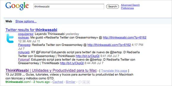Twitter en Google