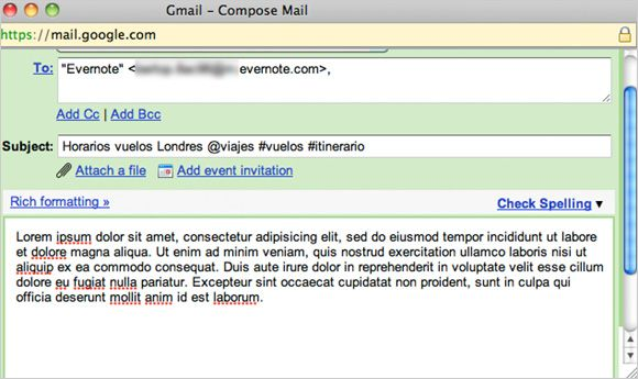 Evernote Email
