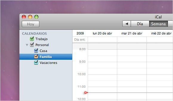 Crea Grupos de Calendarios