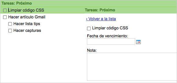 Gmail Tareas
